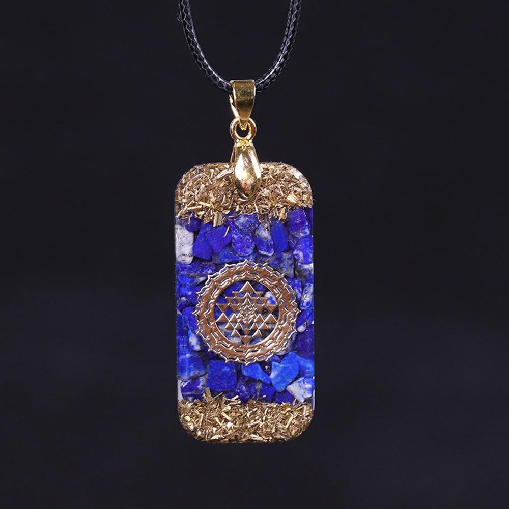 Pendentif énergie Orgonite Lapis Lazuli