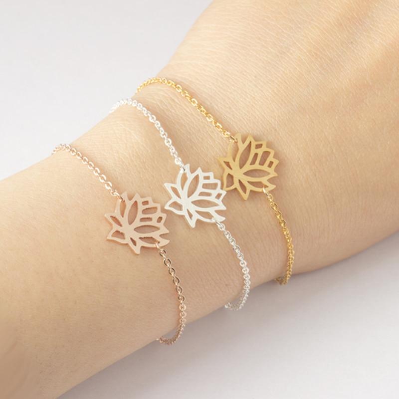 Bracelet chaîne Fleur de Lotus