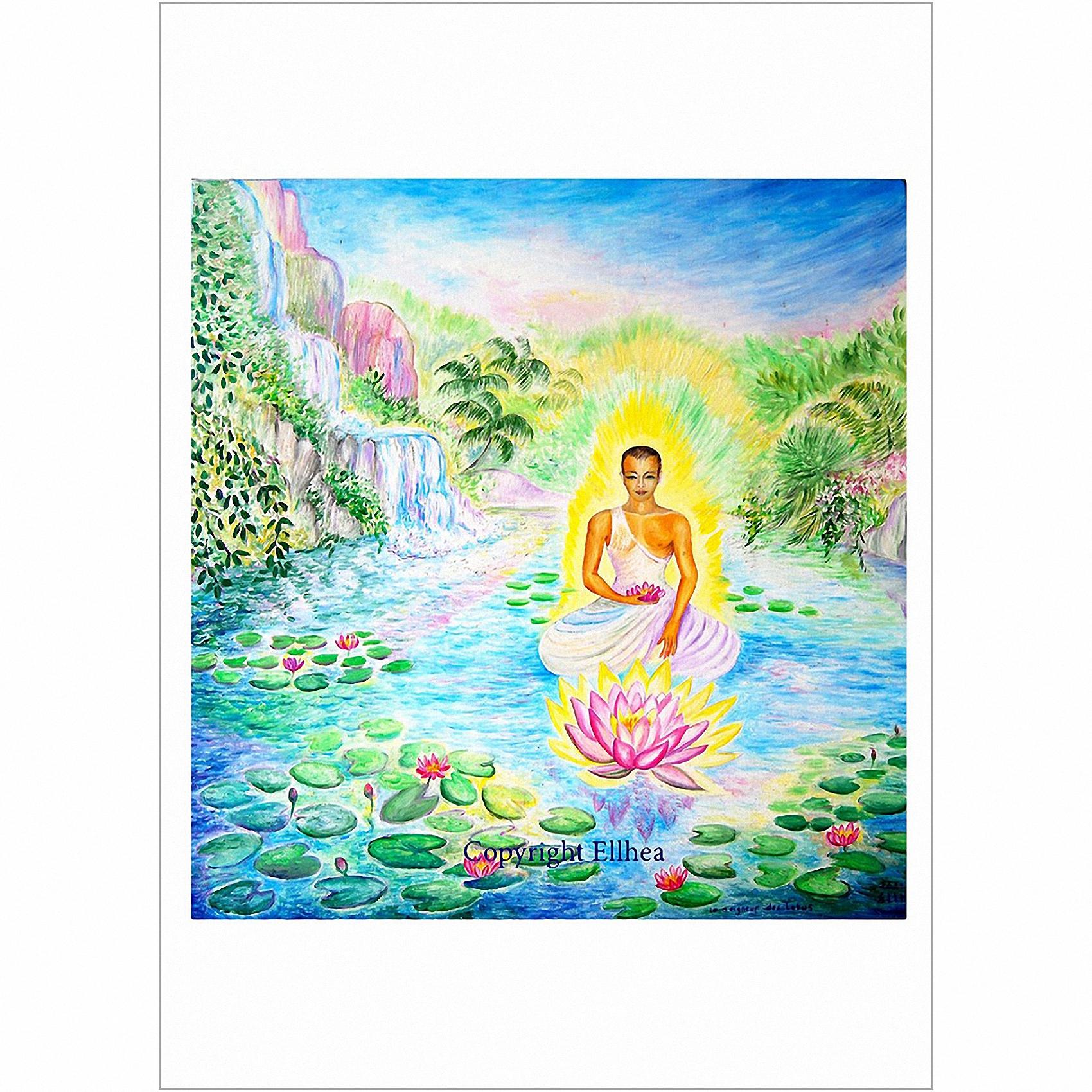 Poster méditation Maître des Lotus