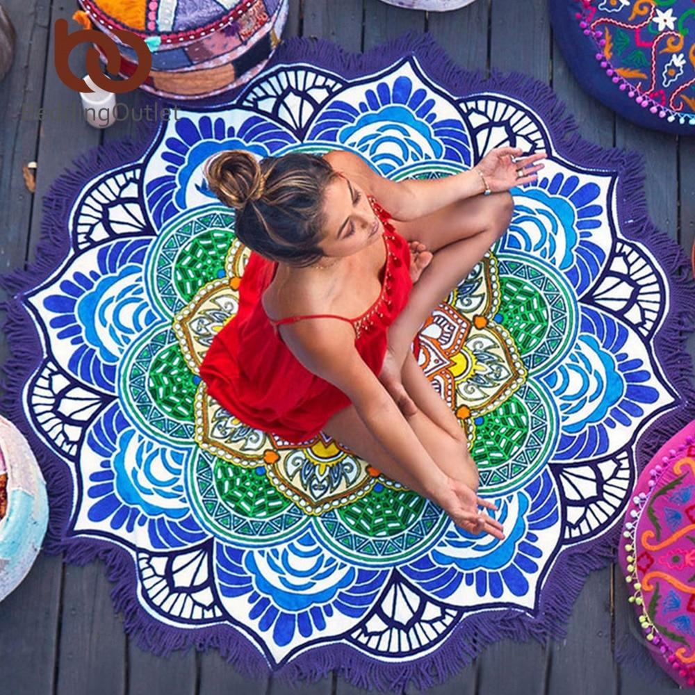 Tapis méditation yoga mandala