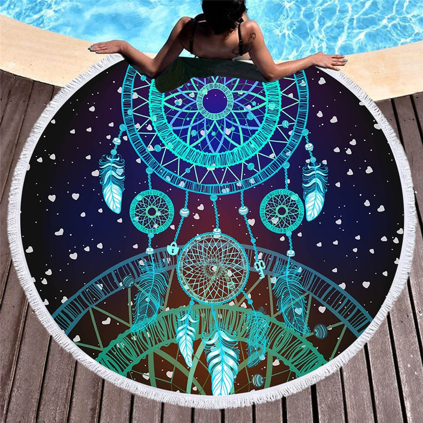 Tapis de méditation Attrape Rêve bleu