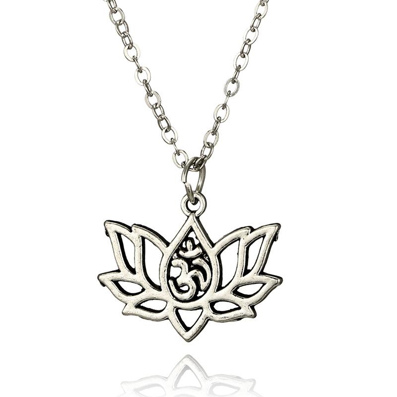 Pendentif Lotus Aum bijou zen