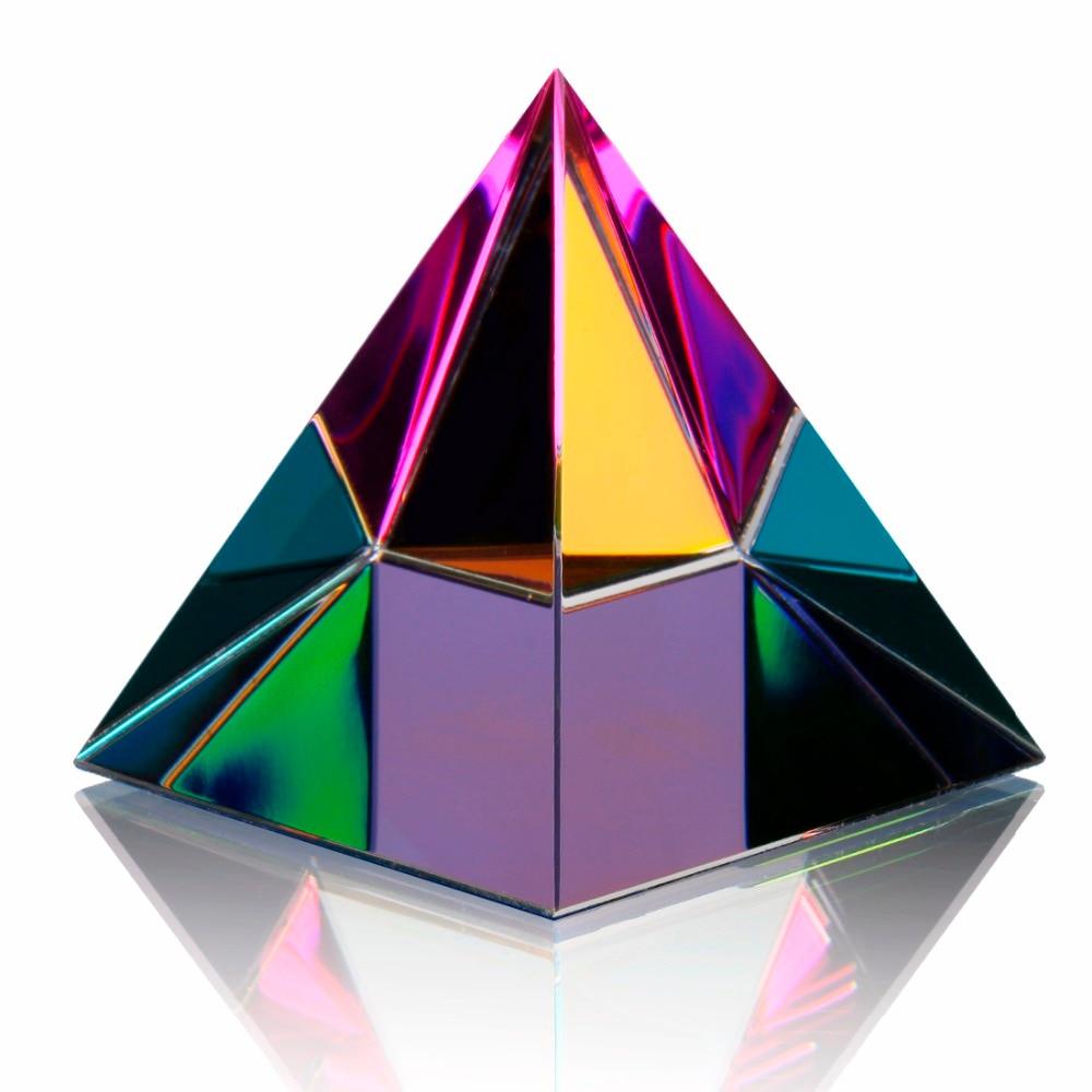 Pyramide en cristal irisé