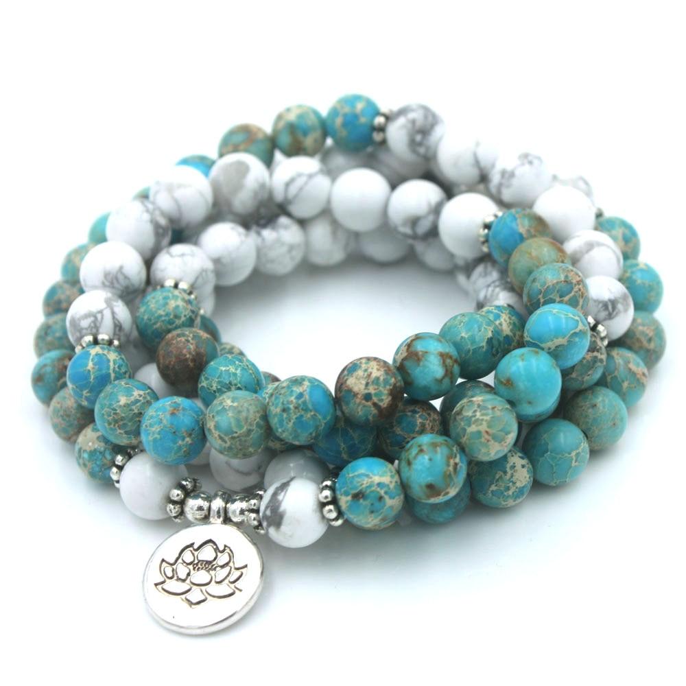 Mala 108 perles Howlite Femme