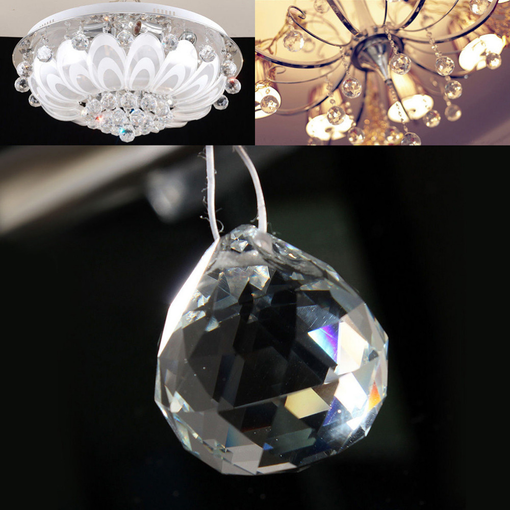 Boule cristal feng-shui suspension