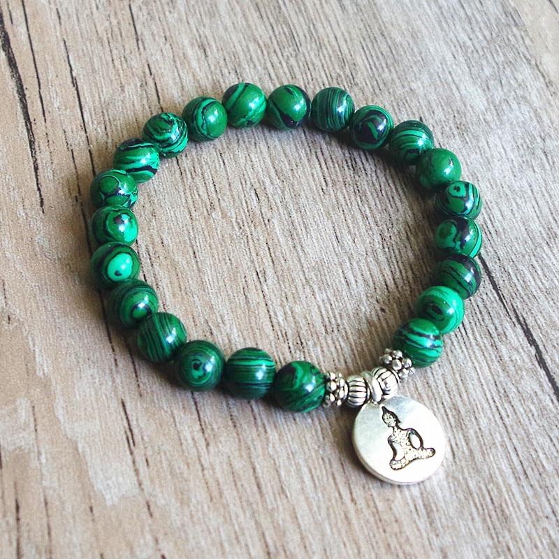 Bracelet en perles de malachite