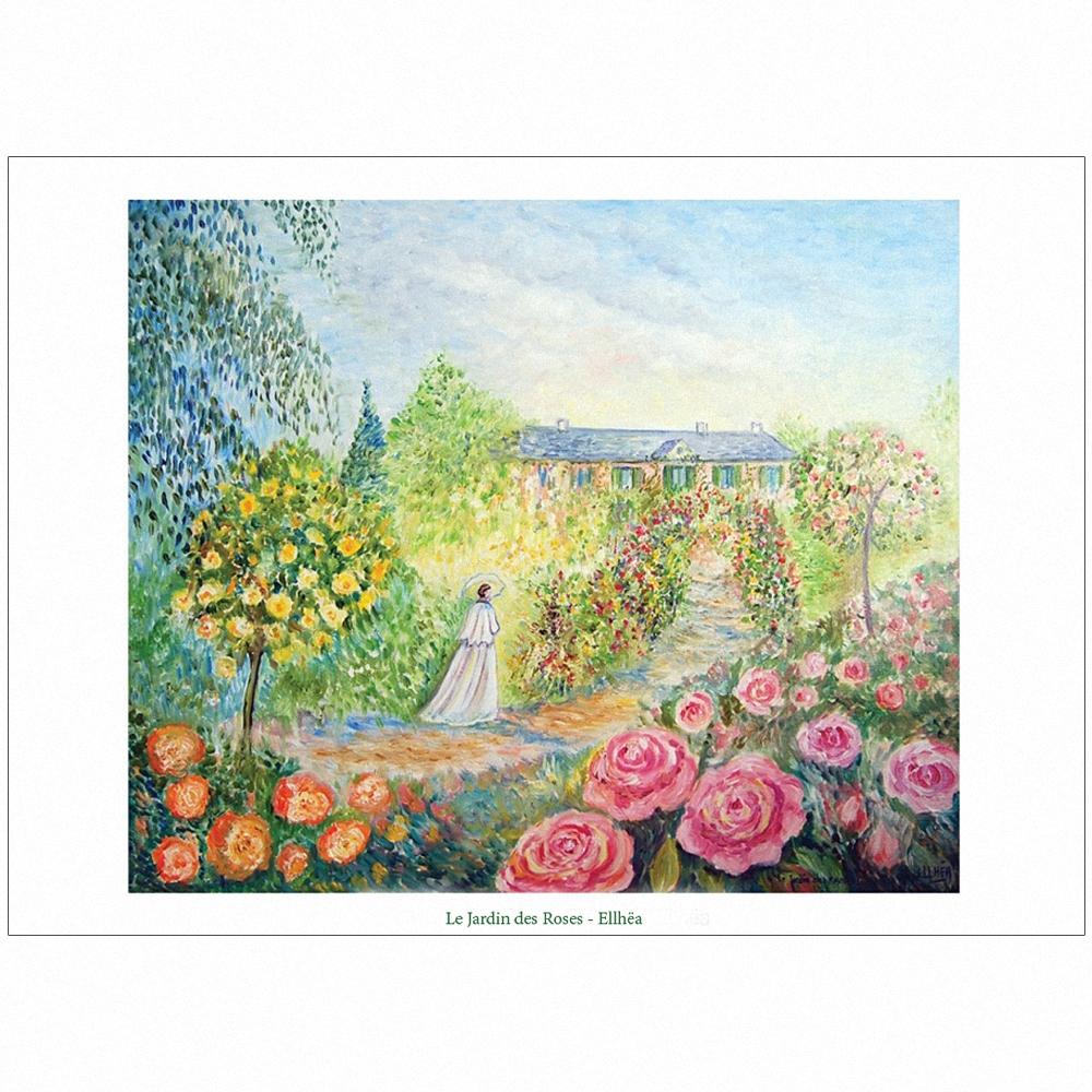 poster jardin des roses - copyright ellhea c7