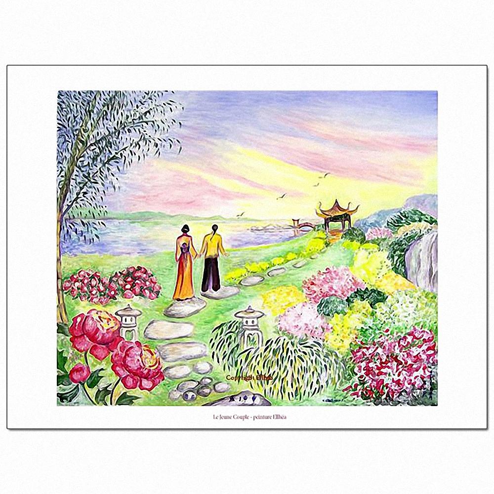 Poster feng-shui Le Jeune Couple
