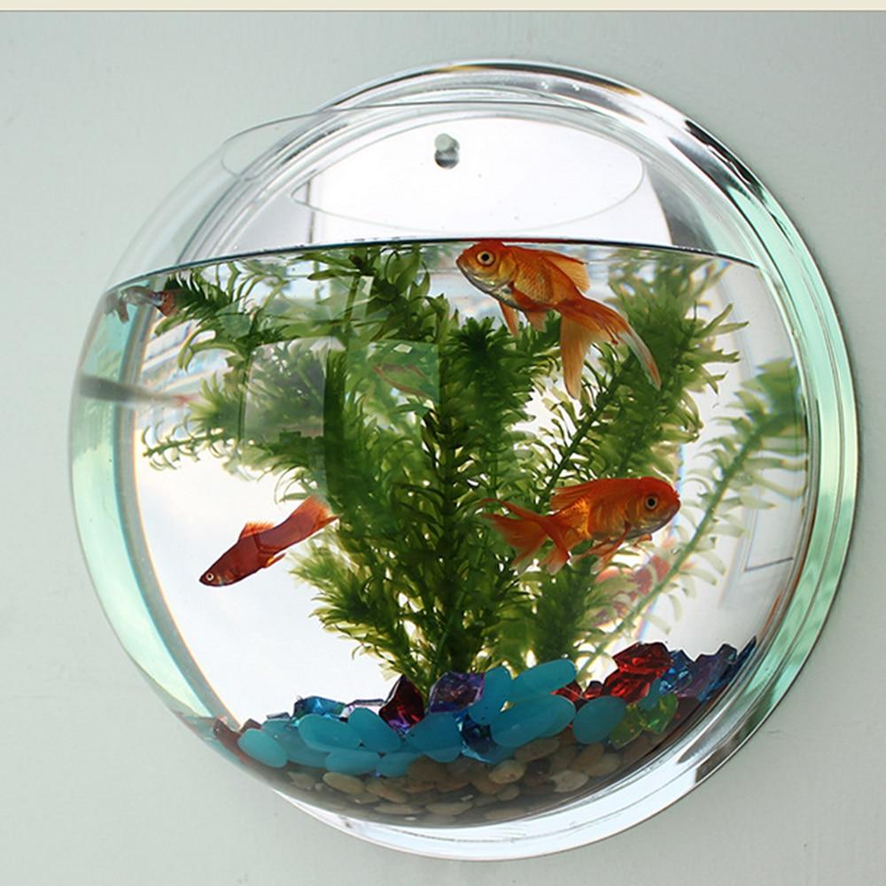 Aquarium mural - pot de plante