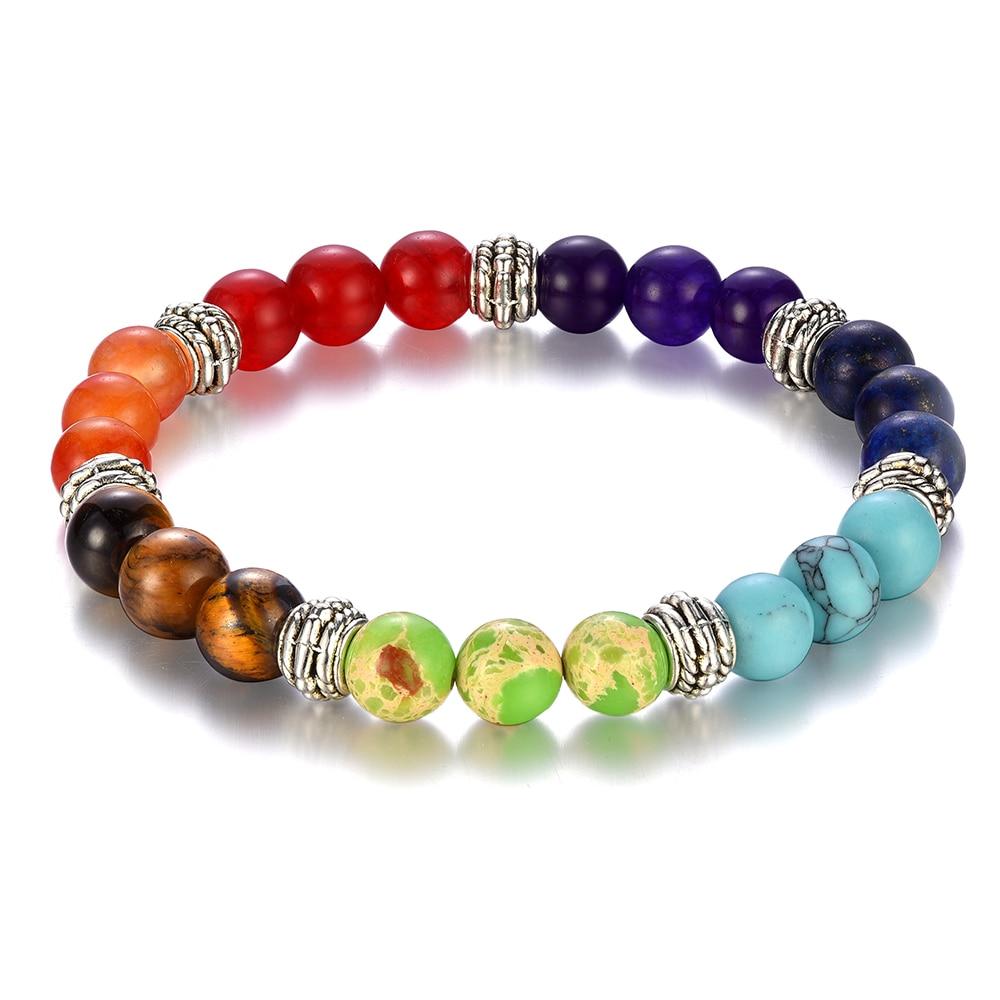 Bracelet 7 chakras 7 pierres