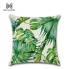 Tropical-Plants-Palm-Leaf-Green-Leaves-Monstera-Cushion-Covers-Hibiscus-Flower-Cushion-Cover-Decorative-Beige-Linen