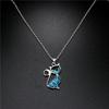 pendentif chat bleu porte-bonheur boutique zen style