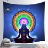 Statue-de-bouddha-indien-m-ditation-7-Chakra-Tapisserie-murale-de-Mandala-suspendue-tapis-de-Yoga