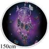 Tapis yoga meditation rond violet attrape rêve 150 cm boutique zen style