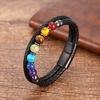 Bracelet-classique-en-cuir-v-ritable-et-acier-inoxydable-pour-hommes-et-femmes-perle-Chakra-ronde