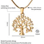 Arbre-de-vie-pendentif-collier-ras-du-cou-femmes-bijoux-mode-2018-cristal-Rose-or-d