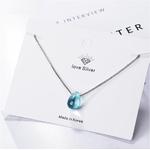 pendentif perle goutte bleue boutique zen style