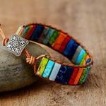 Bracelet-Chakras-en-pierres-naturelles-multicolore-ajustable-boutique-zen-style