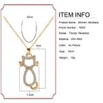 F-U-or-et-argent-couleur-chat-en-forme-de-cha-ne-pendentif-collier-pour-cadeau