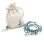 Bracelet-Howlite-Mala-Yoga-pour-femmes-pierre-naturelle-Lotus-108-la-mode-Bracelet-breloques