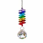suspension cristal multicolore remède feng-shui Boutique Zen Style
