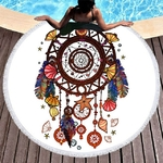 Serviette-de-bain-ronde-en-microfibre-pour-adultes-grand-tapis-de-bain-Mandala-Yoga-loisirs-150cm