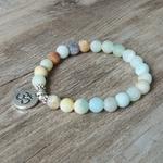 Bracelet-en-pierre-Amazonite-mate-avec-Chakra-Mala-Yoga-Bracelet-OM-Lotus-femmes-hommes-Bracelet-breloques