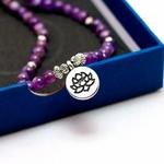 Chakra-en-cristal-violet-naturel-108-Bracelet-ou-collier-bouddha-Mala-Bracelet-en-pierre-de-Yoga