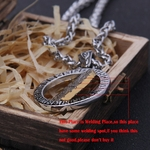 Collier-Viking-Rune-avec-cha-ne-en-acier-inoxydable-et-pendentif-avec-bo-te-en-bois