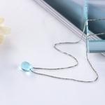 Anenjery-litt-raire-artificiel-bleu-cristal-goutte-d-eau-collier-925-en-argent-Sterling-clavicule-cha