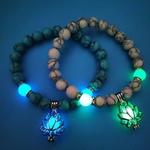 Bracelet pour femme perles luminescentes boutique zen style