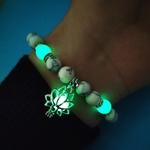 bracelet lotus perles luminescentes vertes boutique zen style                                             ux-Rougeoyant-Dans-L-obscurit-Lotus-Fleur-En-Forme-bracelet-breloques-Pour-Les-Femmes