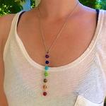 7-pierres-Chakra-Reiki-Point-de-gu-rison-pendentif-Chakra-pendentif-breloque-bijoux-de-Yoga-Ankh