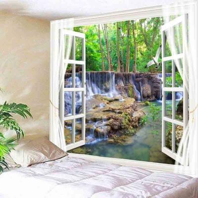 belle-tenture-murale-tapisserie-for-t-belle-cascade-hd-paysage-serviette-de-plage-nature-tenture-murale