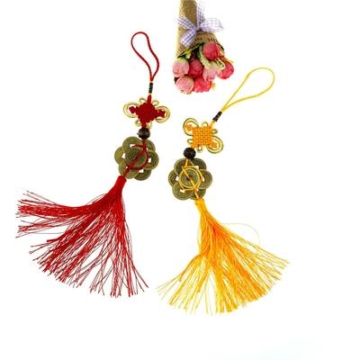 Suspension-monnaie-chinoise-et-noeud-chinois-pour-la-chance-financière-boutique feng-shui-en-ligne-Zen-Style
