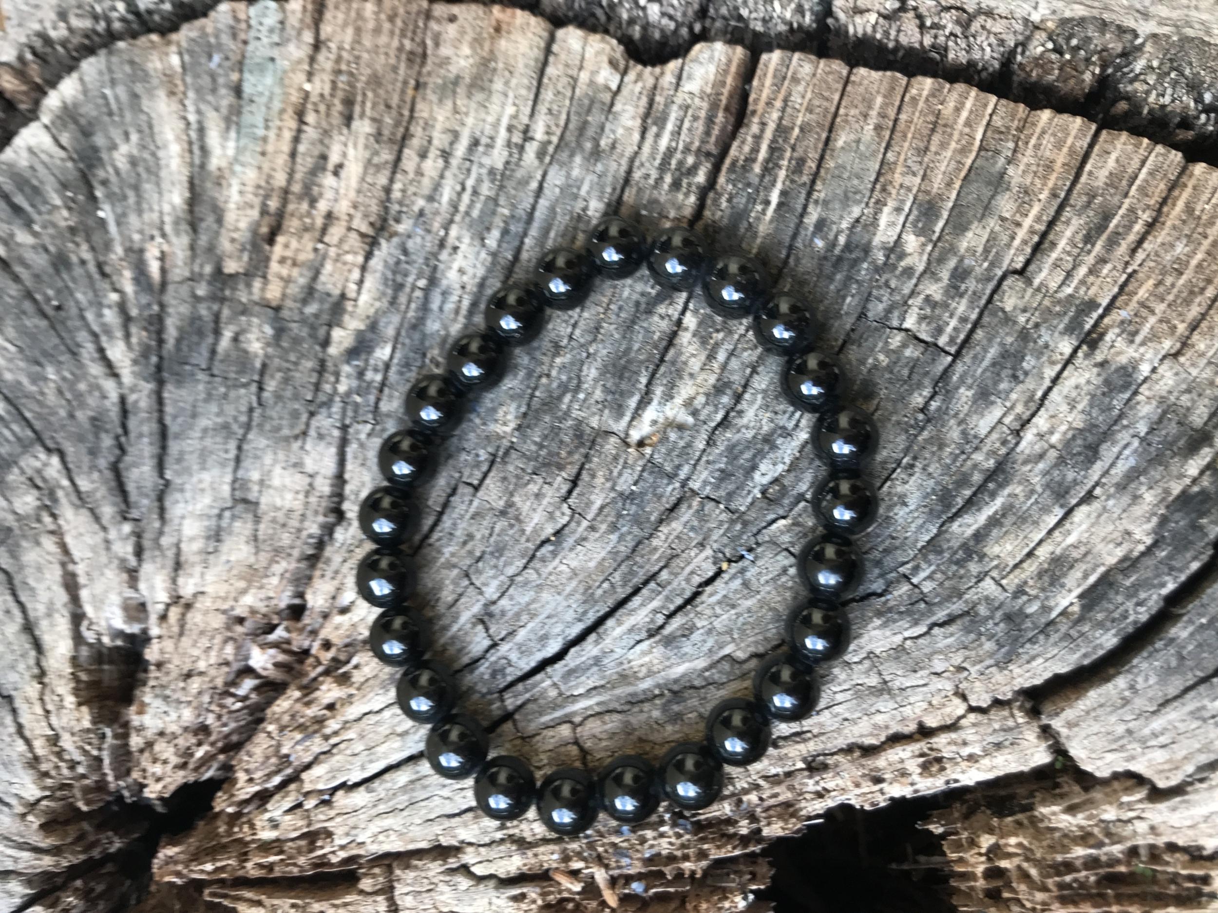 Bracelet homme Obsidienne noire Soin à la carte