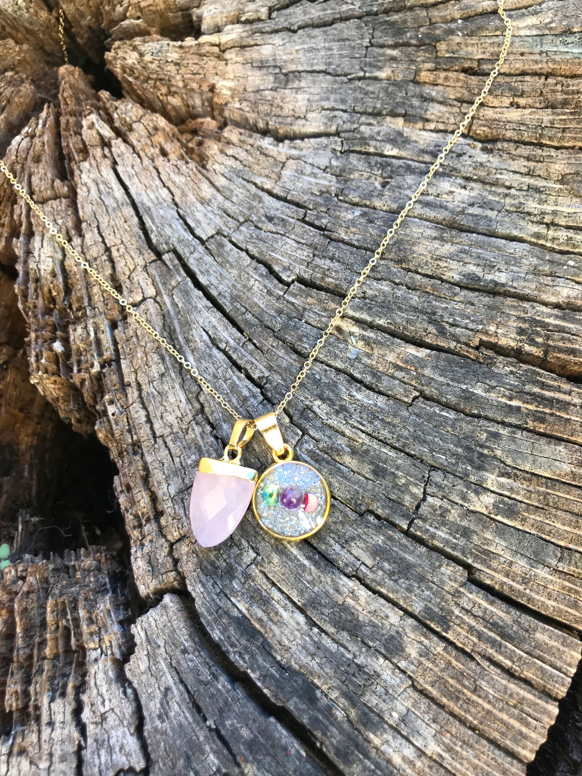 Collier simple quartz rose soin Insecurité emotionnelle