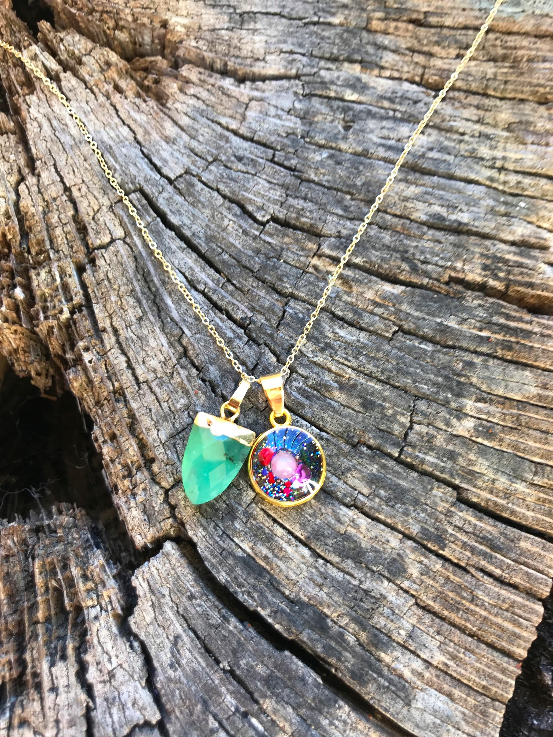 Collier simple jade soin kilo emotionnel