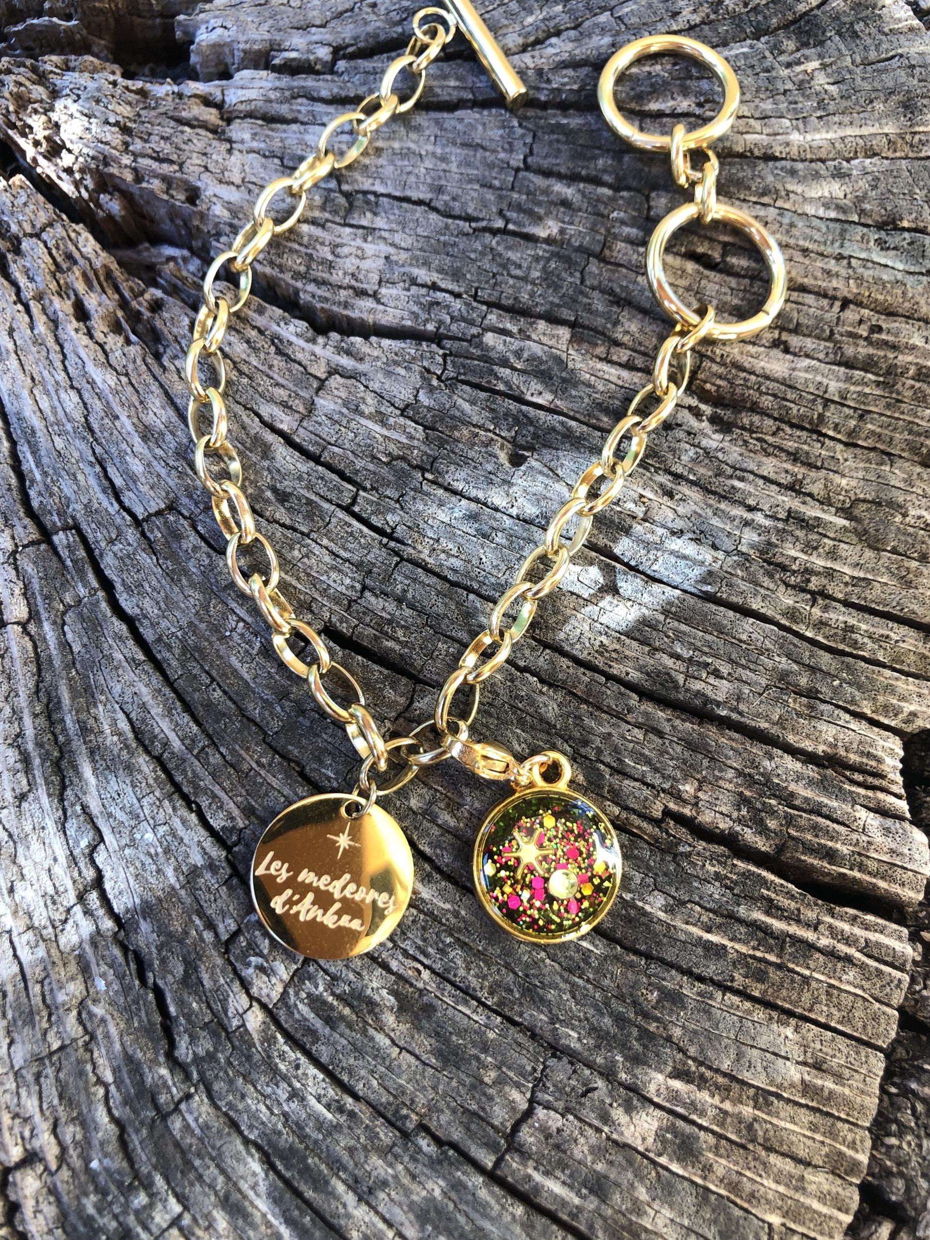 Bracelet Artemis soin reharmonisation generale des 7 chakras ( charms en vente en option)