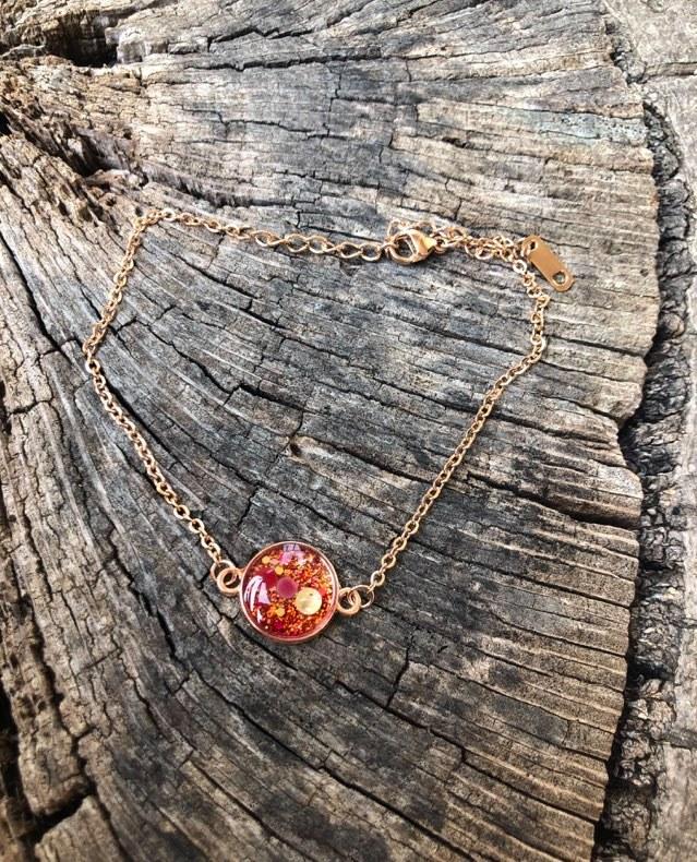 Bracelet Orion or rose Douceur de l\'ame