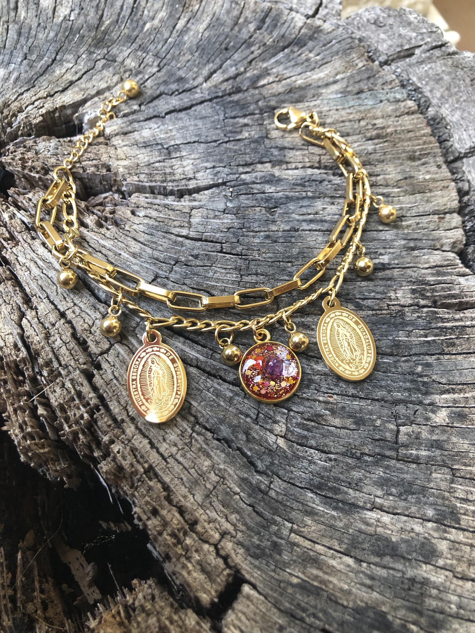 Bracelet Guadalupe soin chakra sacré
