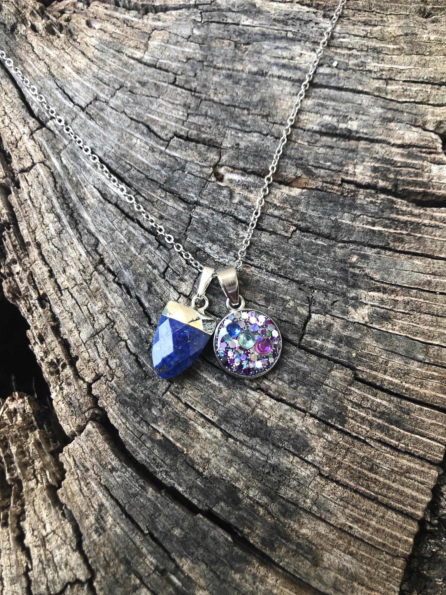 Collier  lapis lazuli Soin Atlantide