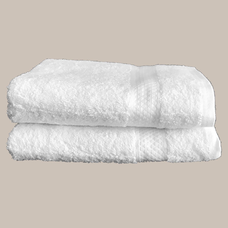 Le comptoir de l'hôtellerie Serviette éponge Article de lit Blanc Gites et chambres d'hôtes Linge de maison qualité hôtelière
