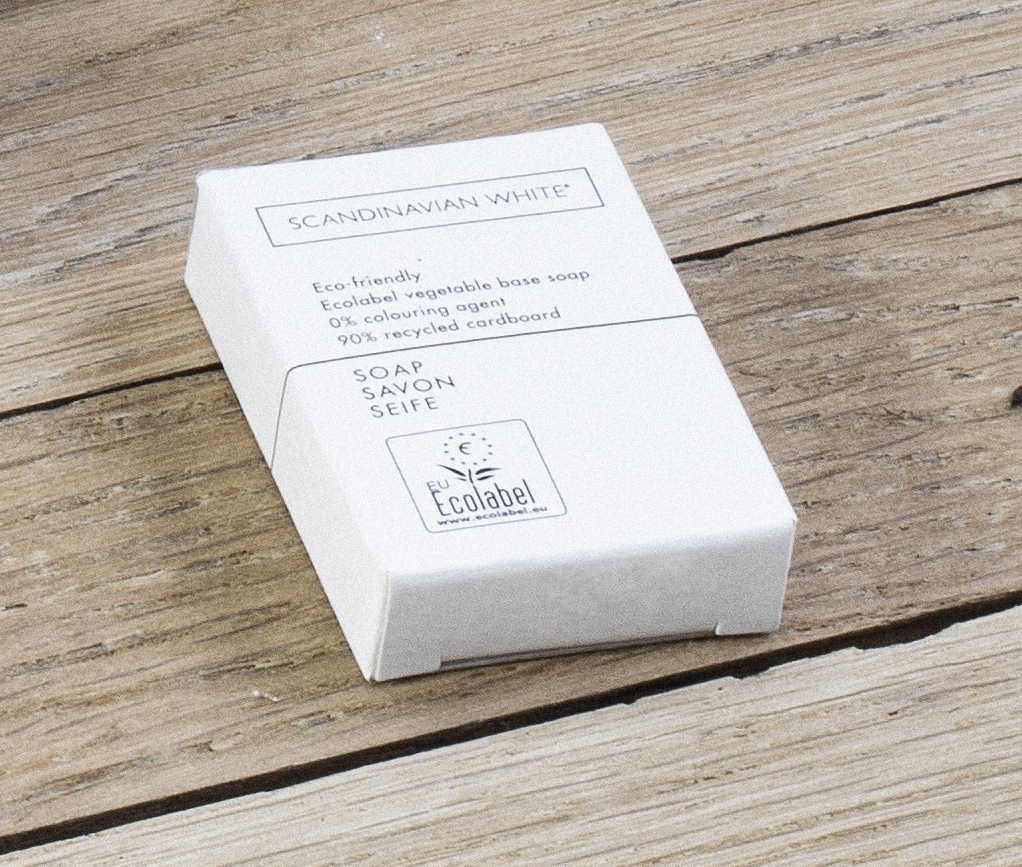 100 Savons Boite Carton 15gr SCANDINAVIAN WHITE