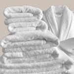 Le comptoir de l'hôtellerie Peignoir Prestige Prestige 4* Blanc Chambres et maisons d'hôtes Linge de maisons à prix usine