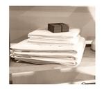 Le comptoir de l'hôtellerie Tapis de bain Luxe 5* Blanc Airbnb & locations temporaires Linge de maisons à prix usine