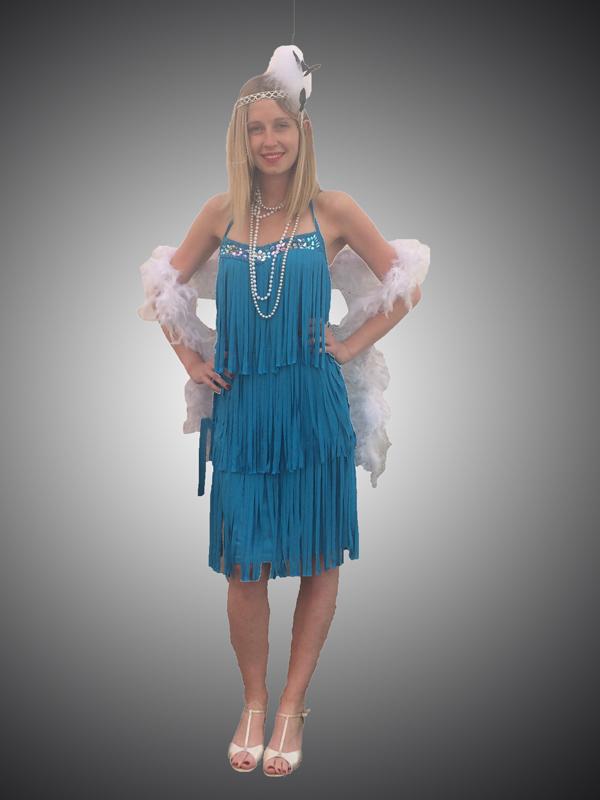 Robe charleston bleue