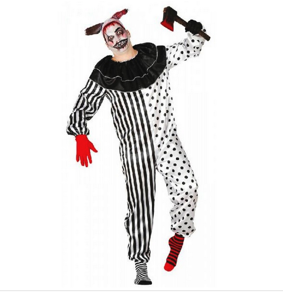 Déguisement clown blanc et noir