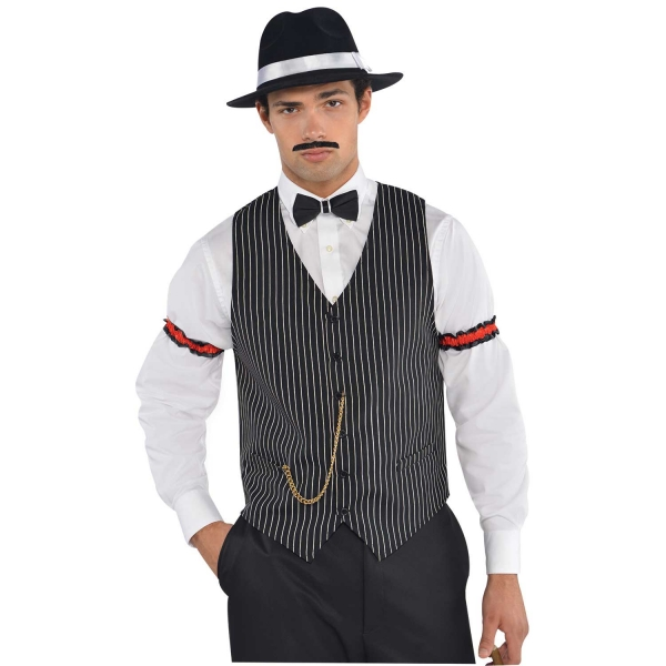 Gilet rayé gangster années 20