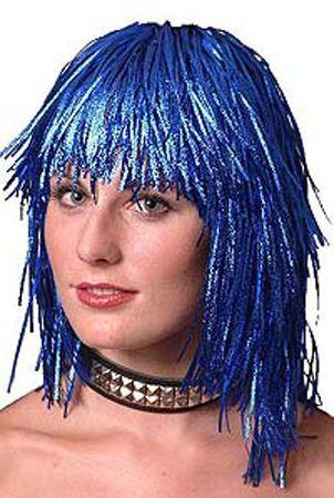 Perruque Lamée Bleue
